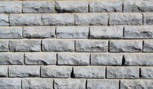 Asbestos brick wall