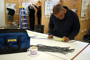 Electrical student measuring wire