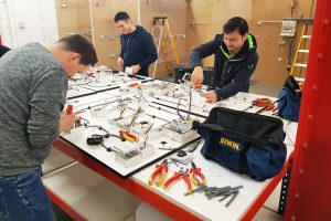 Electrical students in workshop