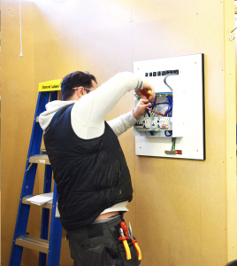 Electrical Training Course student in workshop