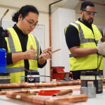 Training Course - Gas students in workshop