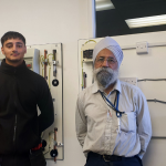 Solar RGB Narinder and Kyle in the electrical training suite
