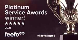 Feefo Platinum Service Award 2021