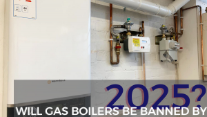 Gas boilers in the training centre workshop