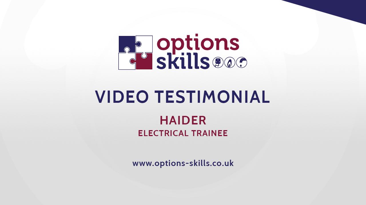Electrical trainee - Haider - Video Testimonial