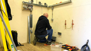 Electrical student upskilling with Options Skills